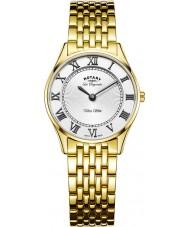 Rotary LB90803-01 Damer ultratunn guldpläterade klockan