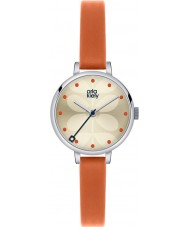 Orla Kiely OK2013 Damer murgröna apelsin läderrem watch