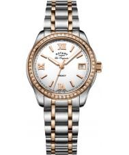 Rotary LB90175-01 Damer klockor arv två ton stål armband klock