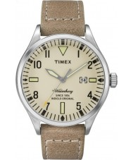 Timex TW2P83900 Mens waterbury tan läderrem watch