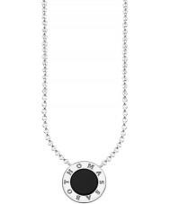 Thomas Sabo KE1492-024-11-L45v Damer silver signatur klassiska halsband med onyx