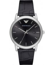 Emporio Armani AR2500 Mens klänning svart läderrem klocka