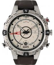 Timex T2N721 Mens naturligt brun tidvattnet temp kompass klocka