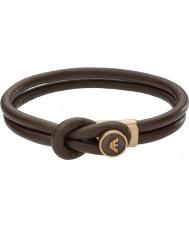 Emporio Armani EGS2213251 Mens signatur brun läderarmband