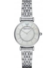 Emporio Armani AR1908 Damer silverpläterade länk armband klänning klocka