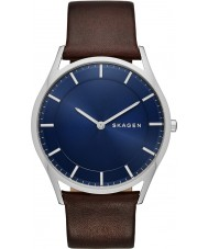 Skagen SKW6237 Mens holst mörkbrunt läder Strap Watch