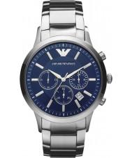 Emporio Armani AR2448 Mens klassiska kronograf blå silver watch