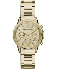 Armani Exchange AX4327 Damer klänning guldpläterade chronographklockan