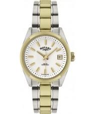 Rotary LB02661-11 Damer klockor havana två ton guld watch