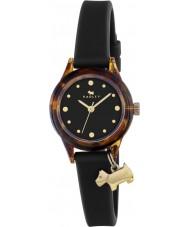Radley RY2324 Damer titta på det! svart rem klocka med guld höjdpunkter