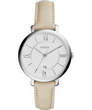 Fossil ES3793 Damer jacqueline grädde läderrem watch