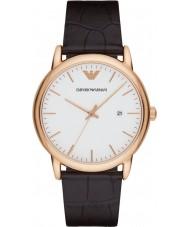 Emporio Armani AR2502 Mens klassiska mörkbrunt läder Strap Watch