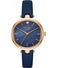 Kate Spade New York KSW1157 Ladies Holland blå läderrem klocka