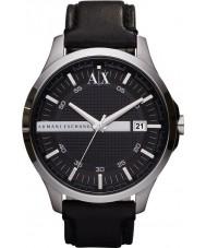 Armani Exchange AX2101 För män svart läderrem klänning klocka