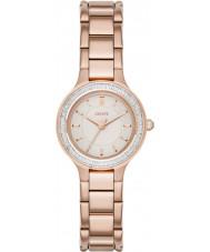DKNY NY2393 Damer kammare ros guldpläterad klockan