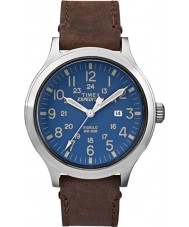 Timex TW4B06400 Mens expedition scout brunt läder Strap Watch