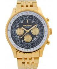 Krug-Baumen 600103DSA Mens air traveler diamant automatisk klocka