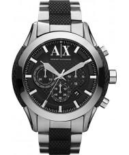 Armani Exchange AX1214 För män svart silver kronograf sportklocka