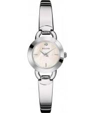 Bulova 96P154 Ladies diamanter silver stål armband klocka