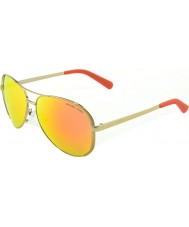 Michael Kors Mk5004 59 chelsea guld apelsin 10146q speglad solglasögon
