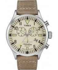 Timex TW2P84200 Mens waterbury tan läderrem chronographklockan