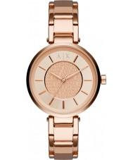 Armani Exchange AX5317 Damer urbana ros guldpläterad armband klocka