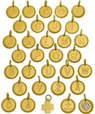 Edblad 31630102-H Charmentity h guldpläterade liten pendel