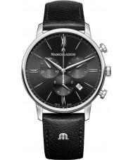 Maurice Lacroix EL1098-SS001-310-1 Mens Eliros svart läderrem chronographklockan