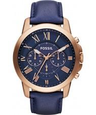 Fossil FS4835 Mens bevilja kronograf marinblå watch