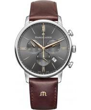 Maurice Lacroix EL1098-SS001-311-1 Mens Eliros brunt läderband chronographklockan