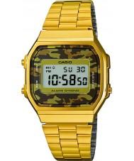 Casio A168WEGC-5EF Mens retro samling guldpläterade klockan