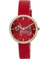 Radley RY2336 Damer rosmarin trädgårdar scharlakansröd läderrem watch