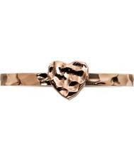 Edblad 3153441960-XL Damer lilla hjärta steg guldpläterad ring - storlek s (xl)