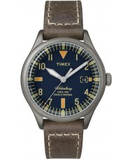 Timex TW2P84400 Mens waterbury mitten av storlek brunt läder Strap Watch