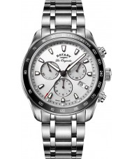 Rotary GB90169-02 Mens klockor arv silver chronographklockan