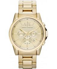 Armani Exchange AX2099 För män guldpläterad kronograf klänning klocka