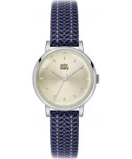 Orla Kiely OK2025 Damer Patricia stam print navy läderrem watch