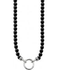 Thomas Sabo KE1102-023-11-M Mens svart obsidian pärlstav halsband