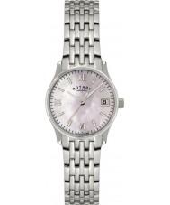 Rotary LB00792-07 Damer tidmätare pärla silver watch