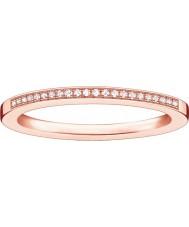 Thomas Sabo D-TR0006-923-14-52 Damer glam och själ steg guldpläterad diamantring - storlek M.5 (EU 52)